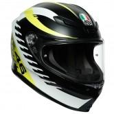 K6 Rossi Rapid 46 Matt Black / White / Yellow