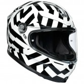 AGV K6 Secret Black / White