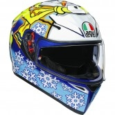 AGV K-3 SV Pinlock Maxvision Rossi Winter Test 2016