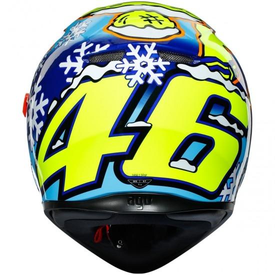 Helm AGV K-3 SV Pinlock Maxvision Rossi Winter Test 2016