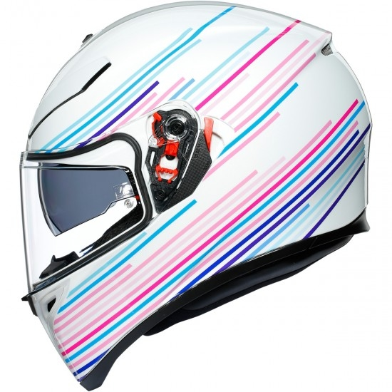 AGV K-3 SV Pinlock Maxvision Sakura Pearl White / Purple Helmet
