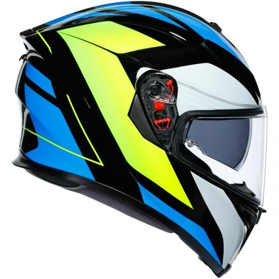 AGV K-5 S Pinlock Maxvision Core Black / Cyan / Yellow Fluo Helmet