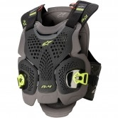 ALPINESTARS A-4 Max Black / Anthracite / Yellow Fluo
