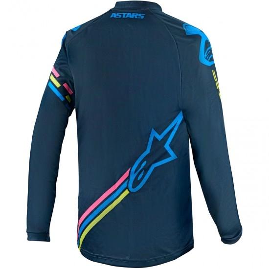 Jersey ALPINESTARS Racer 2020 Junior Braap Navy / Aqua / Pink Fluo