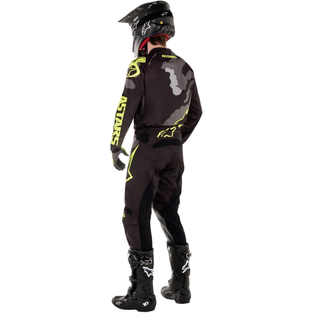 Alpinestars Jersey Racer Tactical Schwarz//Grau Camo//Orange Fluo