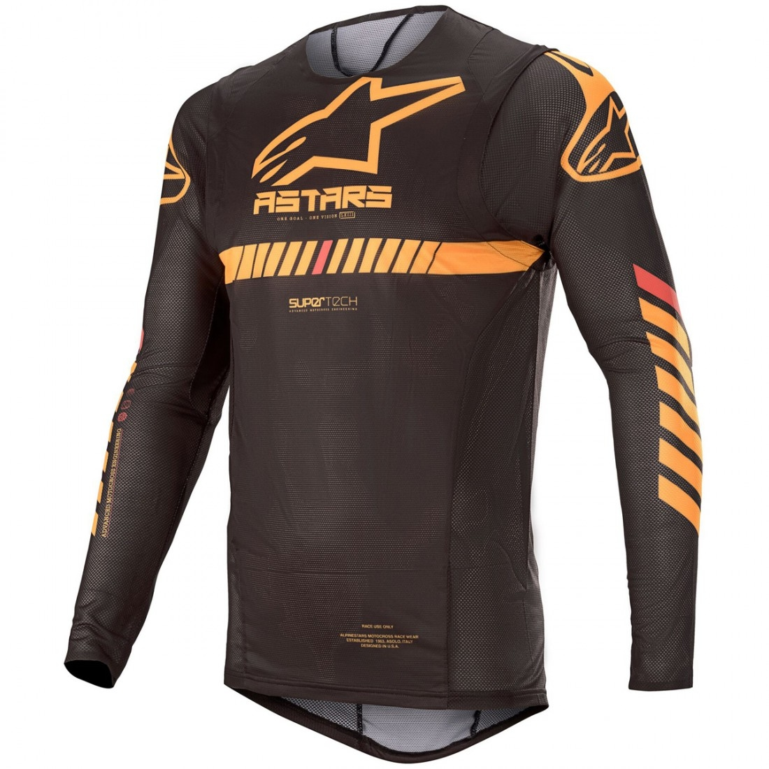Orange Is The New Black New Season 2020.Alpinestars Supertech 2020 Black Orange Red Fluo Jersey