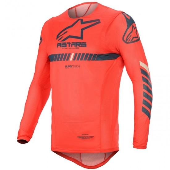 Maglietta ALPINESTARS Supertech 2020 Bright Red / Navy / Off White