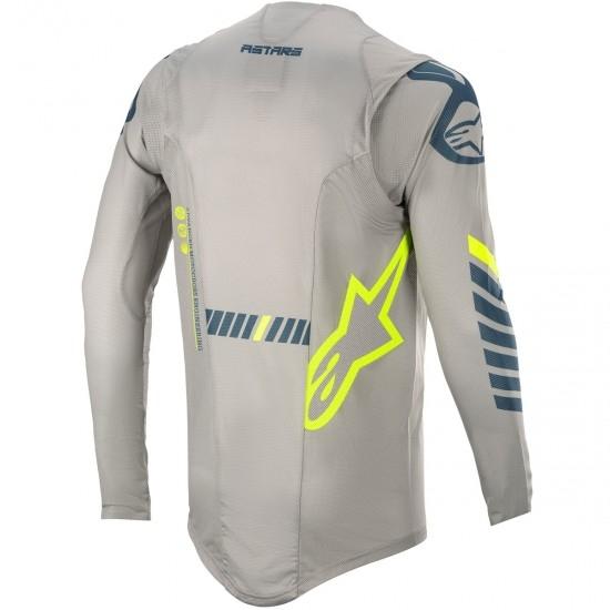 Jersey ALPINESTARS Supertech 2020 Gray / Navy / Yellow Fluo