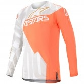 ALPINESTARS Techstar 2020 Factory Metal  White / Orange Fluo / Gold