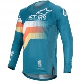 ALPINESTARS Techstar 2020 Venom Petrol / White / Orange Fluo