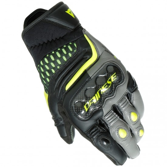 Guanto DAINESE Carbon 3 Short Black / Charcoal-Gray / Fluo-Yellow