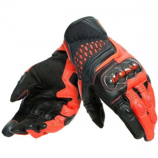 Guantes DAINESE Carbon 3 Short Black / Fluo-Red