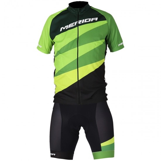 MERIDA Nizza SS Coolmax Fire 2019 Green / Black / White Jersey