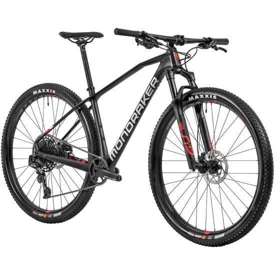"Mountainbike MONDRAKER Chrono Carbon R 29"" 2020 Carbon / White / Flame Red"