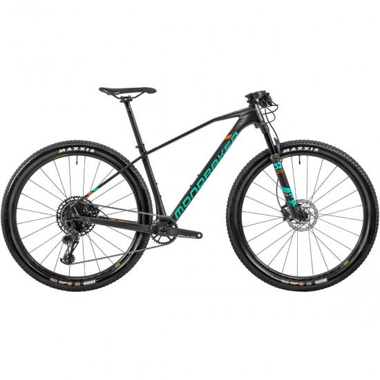 "Bici da montagna MONDRAKER Chrono Carbon RR 29"" 2020 Carbon / Green / Orange Fox"