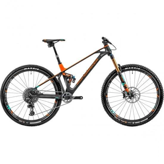 """Bicicleta de montaña MONDRAKER Foxy Carbon RR SL 29"""" 2020 Carbon / Orange Fox / Green"""
