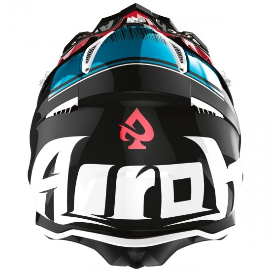 AIROH Aviator Ace Kybon Blue / Red Helmet