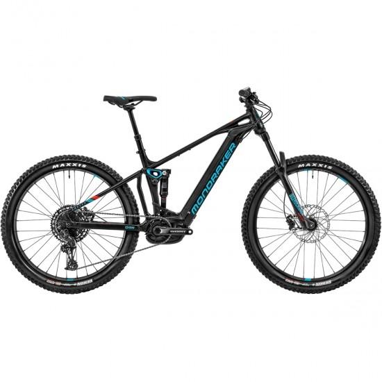"""Bicicleta de montaña MONDRAKER Chaser + 27,5"""" 2020 Black / Sky Blue / Flame Red"""