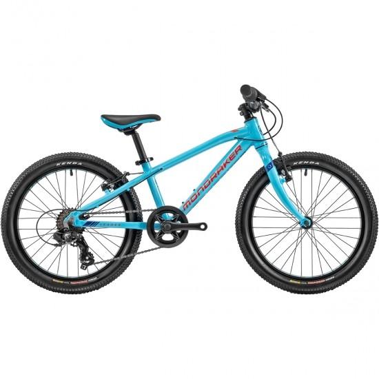 """Bicicleta de montanha MONDRAKER Leader 20"""" 2020 Sky Blue / Fame Red / Dark Blue"""
