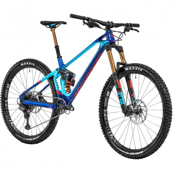"""Bicicleta de montaña MONDRAKER SuperFoxy Carbon RR 29"""" 2020 Dark Blue / Sky Blue / Flame Red"""