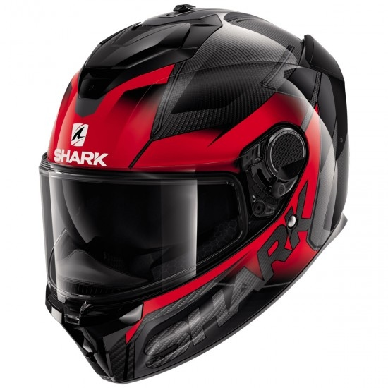 Casco SHARK Spartan GT Carbon Shestter Carbon / Red / Anthracite