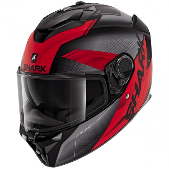 Helm SHARK Spartan GT Elgen Matt Black / Anthracite / Red