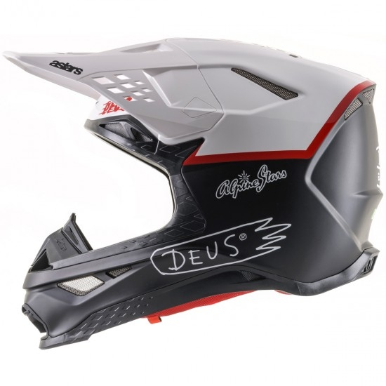 ALPINESTARS Supertech S-M8 Deus Ex Machina LE Matte Black / White / Deep Red Helmet