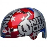 BELL Local Nitro Circus Gloss Silver / Blue / Red