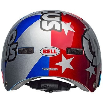 Casque BELL Local Nitro Circus Gloss Silver / Blue / Red