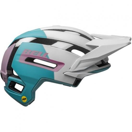 Casco BELL Super Air Mips Matte - Gloss White / Purple