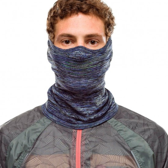 Thermique BUFF Dryflx+ NeckWarmer Reflective Blue