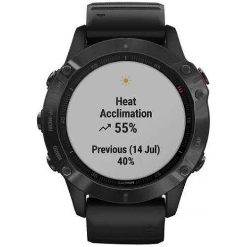 Cuentakilómetros GARMIN Fēnix 6 Pro Black with Black Band