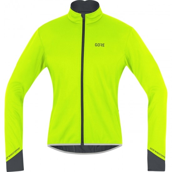 GORE C5 Gore Windstopper Thermo Neon Yellow / Black Jacket