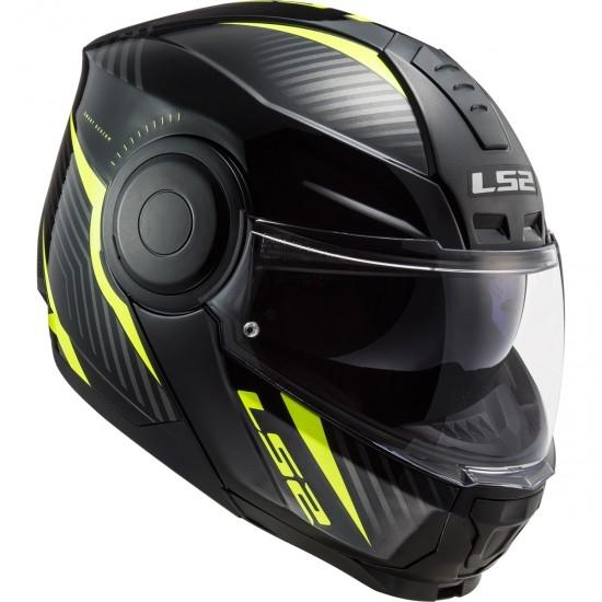 Helm LS2 FF902 Scope Skid Black H-V Yellow