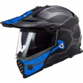 LS2 MX436 Pioneer Evo Cobra Matt Black / Blue