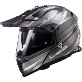 LS2 MX436 Pioneer Evo Knight Titanium / White
