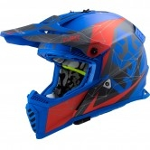 LS2 MX437 Fast Evo Alpha Matt Blue