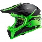 LS2 MX437 Fast Evo Roar Matt Black / Green