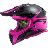 LS2 MX437 Fast Evo Roar Matt Black / Purple