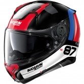 NOLAN N87 Plus Distinctive N-Com Black / Red / Blue