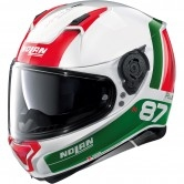 NOLAN N87 Plus Distinctive N-Com White / Green / Red