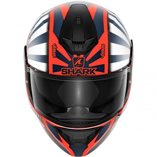 Casco SHARK D-Skwal 2 Replica Zarco Orange / White / Blue