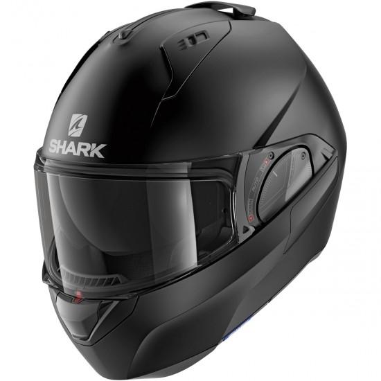 Black SHARK RIDILL BLANK Matt KMA Motorcycle Helmet Size L