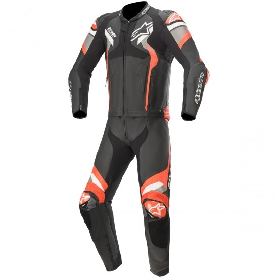 Tuta ALPINESTARS Atem V4 Black / Mid Grey / Red Fluo