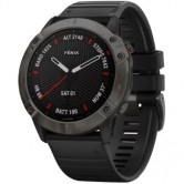 GARMIN Fēnix 6X Sapphire Carbon Grey DLC with Black Band