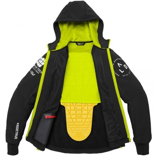 Jacke SPIDI Hoodie Armor Evo Yellow Fluo
