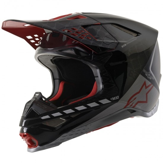 Helm ALPINESTARS Supertech S-M10 San Diego 20 LE Black / Silver / Red
