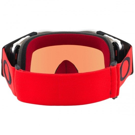 Máscara / Óculos OAKLEY Airbrake MX Red / White Prizm MX Torch Iridium
