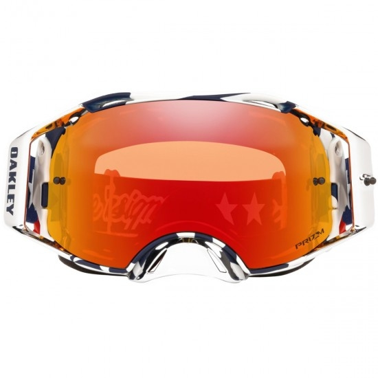 Gafas OAKLEY Airbrake MX Troy Lee Design Patriot Red / White / Blue Prizm Mx Torch Iridium