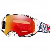 OAKLEY Airbrake MX Troy Lee Design Patriot Red / White / Blue Prizm Mx Torch Iridium